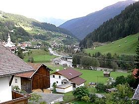 Ferienhaus Flirsch Ausblick
