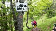 Alpenüberquerung: Landesgrenze